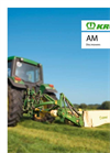 Krone - Model AM-S / AM-CV - Rear-mounted Disc Mowers - Brochure