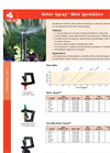 Rotor Spray - Mini Sprinklers Datasheet