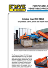 Intake line - Model RH 2400 - Receiving Hopper Brochure