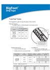 BigFoot - Low Flow Series - Drip Tape Datasheet
