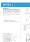 Micro - Model G-4 - Sub-Compact LED Lamp Brochure