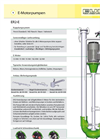 Model ER2-E - Centrifugal Slurry / Manure Pump Brochure
