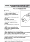 Galcon - AC-4S 8004S - AC Controllers Brochure