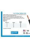 Low Voltage Lighting Cable Brochure