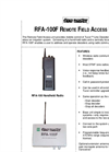 PB-RFA-100V3 Remote Field Access Unit - Datasheet