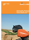 Model GV416 - GV418 S-Line - Variable Chamber Balers- Brochure