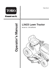 LX Lawn Tractor- Brochure