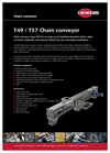 Model T49/T57 - Chain Conveyor Brochure