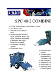 Model SPC40 - Specialized Plot Combine- Brochure