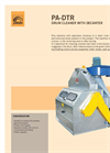 Aspiration grain cleaner with rotary drum decanter