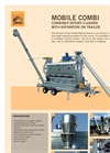 Trailer mounted Combined rotary drum grain cleaner with aspirator (Combi Mobile)