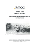 Model D41 - 9″ Spacing Wheel Offset Harrows Brochure