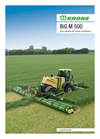 Krone - Model BiG M 500 - High Performance Mower Conditioner Brochure