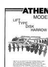 Athens - Model 47 - Lift-Type Disk Harrows - Brochure