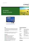 Model SP 2500C - Spray Controller Brochure