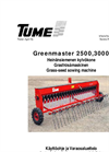Greenmaster - Model 2500 and 3000 - Surface Seeding Machine Brochure