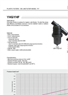 Irritec YHG/YHF - On Line Plastic Filters - Brochure