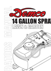 14 Gallon Pro Series - Lawn & Garden Sprayers- Brochure