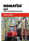 Komatsu 835 Lithe and Highly Productive Forwarder - Brochure