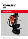 Komatsu S82 Harvester Heads - Brochure