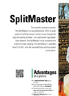 SplitMaster - Model 26 - Horizontal Log Splitter Brochure
