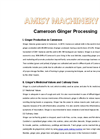 Cameroon Ginger Processing