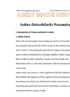 Indian Onion&Garlic Processing