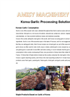 Korea Garlic Processing Solution