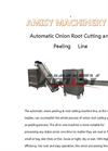 Automatic Onion Peeling and Root Cutting Line