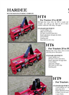 HT4-5834 Mid-Light Duty Rotary Tiller, 58 Inches Brochure