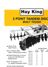 K&M - Model DM 1616 - 3-Point Disc Harrows - Brochure
