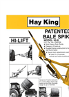 Hay King - Model 30-8 - Loader - Datasheet