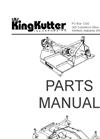 King Kutter - RB-60 - 5 Foot Rear Blade Brochure