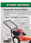 SG340 - Stump Grinder Datasheet
