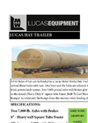 Lucas - Heavy Duty Hay Trailer - Brochure