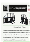 Lucas - Heavy Duty Puller - Brochure