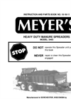 Model 3465 - Heavy Duty Upper Beater Drive Spreaders Brochure