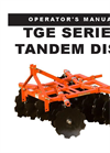 Tandem - Model TGE Series - Lift Disc Harrows Brochure