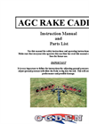 AGC RAKE CADDY Manual