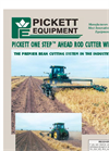 Pickett One Step - Ahead Rod Cutter Windrower - Brochure