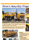 Porter - Heavy Duty Tillage Bedder Datasheet