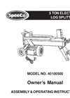 SpeeCo - Model 40100500-5-Ton - Electric Log Splitter - Manual