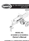 SpeeCo - Model 401635BB 35 Ton - Log Splitter - Manual