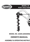 SpeeCo - Model 65 - Post Hole Digger - Manual
