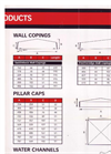 Wall Copings & Pillar Caps- Brochure