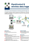 PlantControl - Model D 9.52.01 - Wireless Data Logger and Sensors Brochure