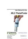ThetaProbe - Model ML3 - Soil Moisture Measuring Set Manual
