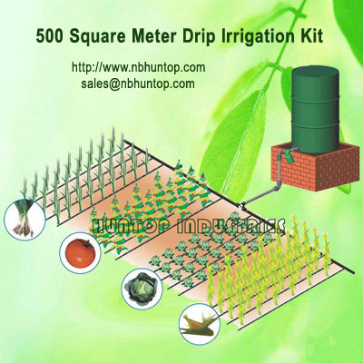 Gravity Drip Irrigation System Dripline Kit Huntop Supplier China, sub-surface vegetable drip Irrigation system, Gravity Flow & Rain Barrel Drip Irrigation Systems, small scale Drum and Drip Irrigation, bucket drip system and vegetable growing project, Fa