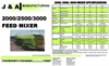 2000,2500,3000 - Horizontal Feed Mixers Brochure
