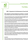 PEFC Press Briefing Brochure